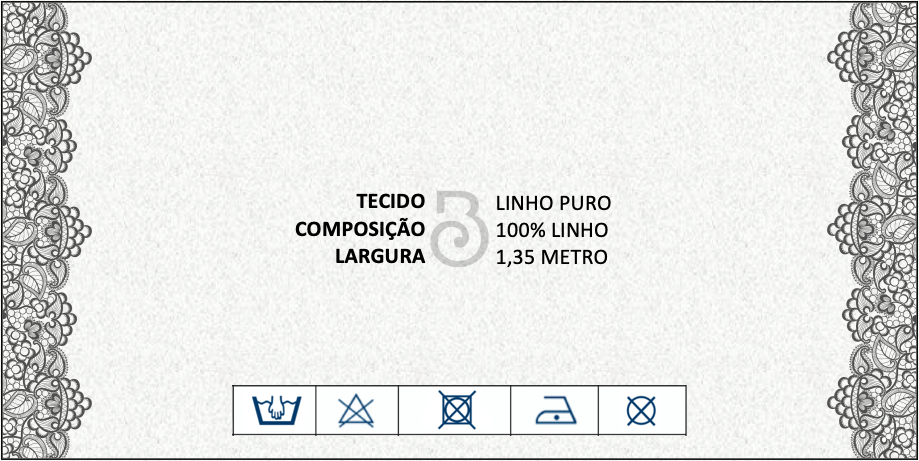 LINHO PURO ESTAMPADO