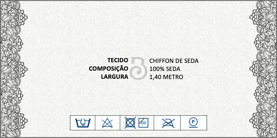 CHIFFON SEDA PURA ESTAMPADO PREDIOS CENTRO SAO PAULO COPAN