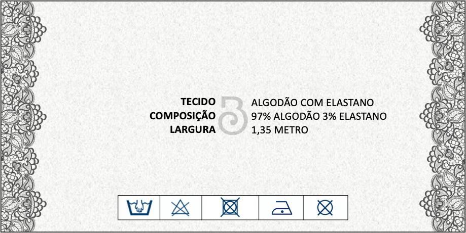 TRICOLINE ALGODAO COM ELASTANO ESTAMPADO